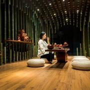 چایخانه نیلوفر آبی و بامبو